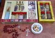 2 Holy Water Set, Anointng Oil,rosary - Church Of The Holy Sepulchre Jerusalem