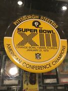 1/21 1979 Pittsburgh Steelers Super Bowl Xiii Huge 6''pin Pinback Button 2