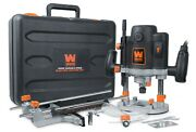 Rt6033 15a Variable Speed Plunge Woodworking Router Kit With Carrying Case