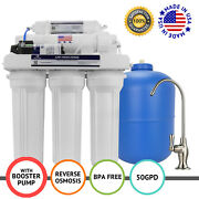 Apex Mr-5151 5 Stage 100 Gpd Booster Pump Ro Reverse Osmosis Water Filter System