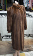 Exquisite Couture Hand Made Vintage Real Fur Finest Mink Coat Full Length 10-12