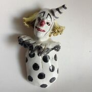 Hand Made Art Pottery Sculpture Pagliacci Sad Clown Hand Painted 5.25""