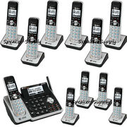 Atandt 2 Line Dect 6.0 Telephone Machine System 11 Cordless Phone Tl88102 10 88002