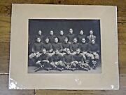 1906 Cornell Football Team 10x13.5 Signed Orig Photo Published In 1907 Yearbook