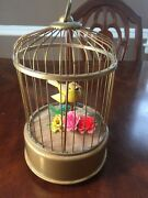 Vintage Tin Toy Bird In Cage Modern Toys Battery Operated