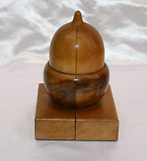 Magnificent 1900 English Hand Made Wooden Pair Of Book Ends
