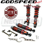 For Mini Cooper R50 2002-06 Godspeed Mmx3510-b Maxx Coilovers Camber Plate Kit