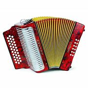 Hohner Button Accordion Corona Ii Classic Gcf With Gig Bag Straps Pearl Red