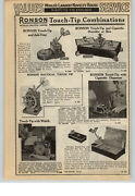 1940 Paper Ad Ronson Touch Tip Table Lighter Shipand039s Wheel Watch Clock