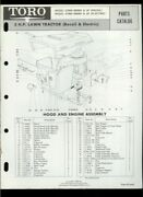 Toro 5hp Lawn Tractor Riding Mower Model 57054 57060 Illustrated Parts List