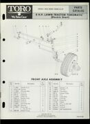 Toro 8hp Lawn Tractor Riding Mower Model 55256 Illustrated Parts List