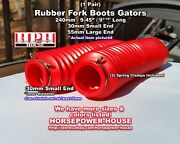 30mm Red Rubber Fork Boots Gators @ 2003-2020 Honda Crf150f Recreational Model