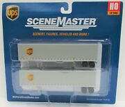 Ho Scale Walthers Scenemaster 949-2213 Ups United Parcel Service 45' Trailers