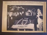 Unification Of Germany Press Wire Photo 1990 Germany United Fatherland Flag