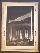 Unification Of Germany Press Wire Photo 1990 Reichstag Building Midnight Flag