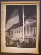 Unification Of Germany Press Wire Photo 1990 Reichstag Building Flag Hoisted