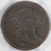 1807 1c Small Frac Draped Bust S-274 Large Cent Pcgs Vf 20