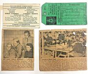 Boy Scout Vintage 1955 8th World Jamboree Passport Luggage Tag Id Card Songs Lot