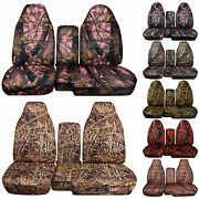 1983-2003 Ford Ranger 60/40 Camouflage Camo Seat Covers Choose Color