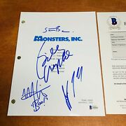 Monsters Inc Signed Movie Script By 4 Cast / Billy Crystal Steve Buscemi W/ Coa