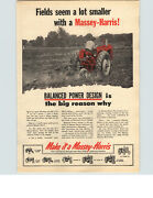 1954 Paper Ad Tractor Farm Massey-harris Plow Mustang Pacer Colt Special 55 44