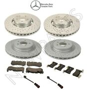 For Mercedes W204 C63 Amg 11-15 Front And Rear Disc Brake Pad Sensors Kit Genuine
