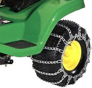 Rear Tire Snow Traction Chains Blower Tractor Front Blade D160 D170 John Deere