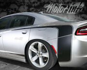For 2015-2018 Dodge Charger Rear Quarter Reversed C Scallop Stripes Side Decals