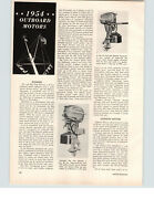 1954 Paper Ad 4 Pg Outboard Motors Evinrude Johnson Martinand039s Motorboat Boat