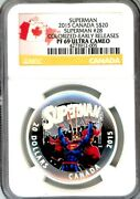 2015 Superman Iconic Comic Book Cover Art 3 Coin Proof Set 20 Silver Ngc Pf69