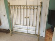 Heavy Antique Solid Brass Single Bed Frame 100 +/- Years Old Excellent Condition