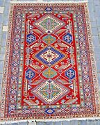 Hand Knotted Rug Carpet 5and039x7and039 Handmade Wool New Traditional Old Antique Oriental