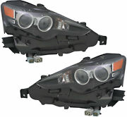 Fits Lexus Is250 Is350 2014-2016 Led Headlights Head Lights Front Lamps Pair