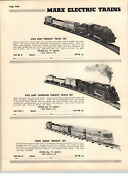 1955 Paper Ad 11 Pg Marx Electric And Mechanical Toy Train Sets Hand Car Box Cars