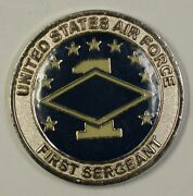 United States Air Force First Sergeant Sgt. Challenge Coin Blue Background 2