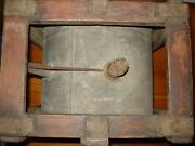 Antique Rocker Can Primitive Water Dispenseroil Can Rare In Wood Frame 1900