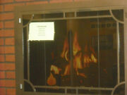 Stoll Inset Fireplace Bifold Doors With Smoked Glass Copper Vein 38 X 30