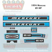 1974 Mercury 85 Hp Outboard Reproduction 13 Piece Marine Vinyl Decal 850