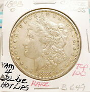 1888-o Morgan Silver Dollar Choice Au+ Vam 4 Dbl Die Hot Lips Top100 Rare B649