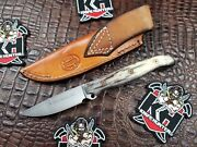 Busse Combat Custom Shop Fogo Knife W/ Rowe Leather From Garth's Collection