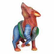 Coyote And Snake Oaxacan Alebrije Wood Carving Mexican Folk Art By Nestor Melchor