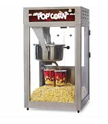 16oz Tempered Glass Popcorn Popper W/ Removeable Kettle