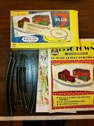 Vintage Ahm Model Railroad Oval Track Set Curved 14 Piece And Cutouts W Box