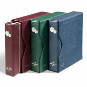 One Red Numis Album For Coin Collection With Slipcase Leuchtturm 338789