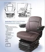 Air Suspension Seat Ford / New Holland Tractor Combine Charcoal Gray Color