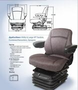 Air Suspension Seat Massey Ferguson Tractor Combine Charcoal Gray Color