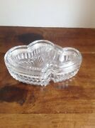 Crystal Clear Interlace Hearts Shape Jewelry/trinket Boxes Great Quality