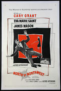 North By Northwest Cary Grant Hitchcock 1959 1-sheet Linenbacked