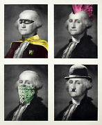 Mr Brainwash Presidentand039s Day Full Large Silk Screen Art Print Signed And Numbered