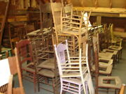 68 - 100 Antique Pressed Back Chairs - Our Choice Some Painted - Restoration